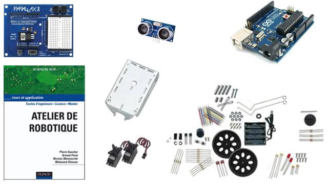 Premier prix du concours : un robot en kit et un livre de robotique