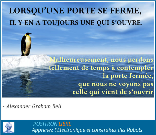Illustration de la citation d'Alexander Graham Bell