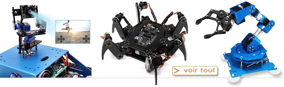 Exemple de 3 kits de robots à construire soit-même