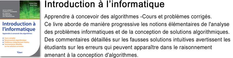 Livre Introduction à l'informatique