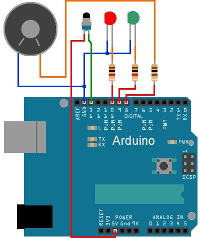 Implantation Haut-parleur et LEDs sur Arduino