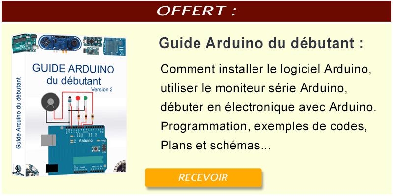 Lien en image pour l'accès au guide du débutant en Arduino