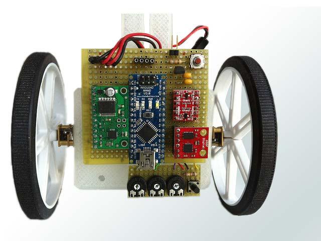 Détail des circuits électroniques du pendule