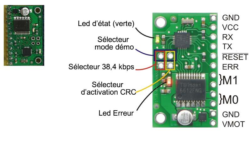 Circuit de commande des moteurs avec modules driver et contrôleur