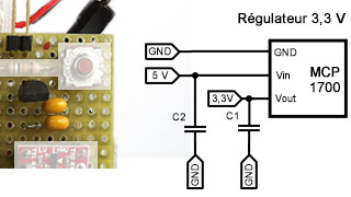 Composants de la régulation 3,3 Volts